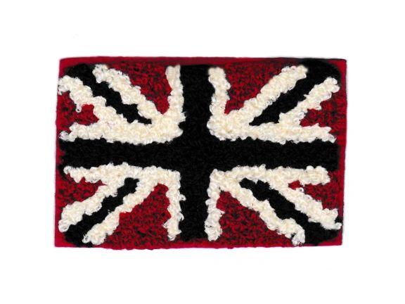 Chenille Antique Union Jack British Flag Patch 8cm