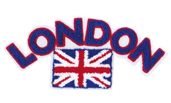 Chenille London Union Jack British Flag Patch 28cm