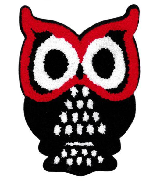 Beautiful Chenille Owl Patch XXL 27cm