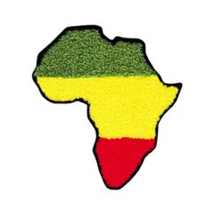 XL Extra Large Chenille Rasta Africa Patch 12cm