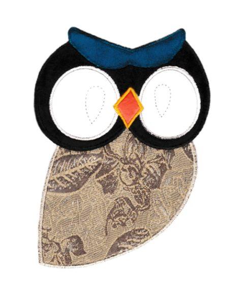 Beautiful Owl Patch XXL 21cm