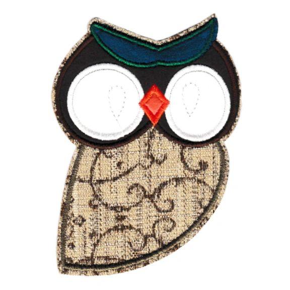 Beautiful Owl Patch XL 13cm