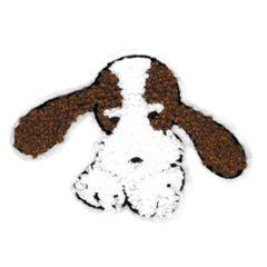 Cute Beagle Bloodhound Chenille Dog Patch 11.5cm