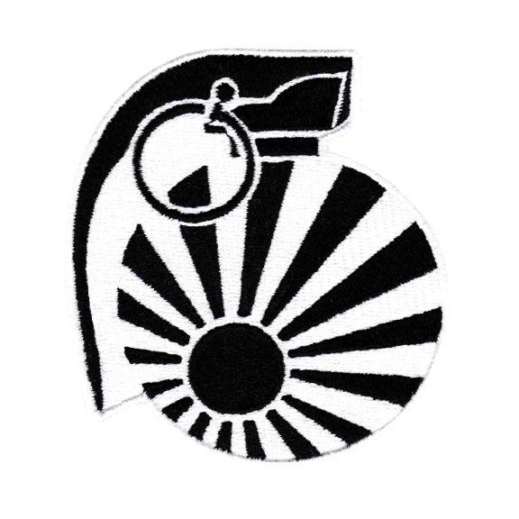 JDM Revolution Punk Rising Sun Grenade Patch 9cm