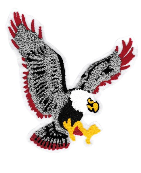 Beautiful Chenille Flying Eagle Patch XXL 20cm