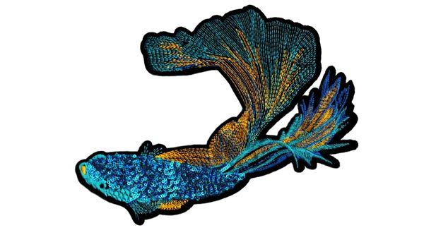 Beautiful Beta Fish Patch XXL Extra Large 27cm