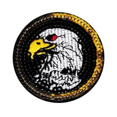 American Bald Eagle USA Biker Motorcycle Patriot Patch 7cm Sequins & Embroidery
