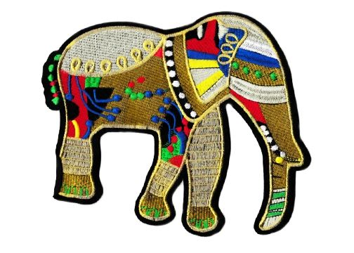 Beautiful XXL Extra Large Thai Indian Elephant Patch 22cm