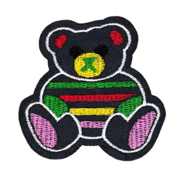 Cute Sitting Teddy Bear Patch 9cm