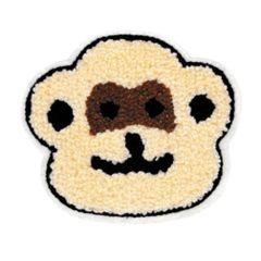 Cute Chenille Monkey Bear Patch 10cm
