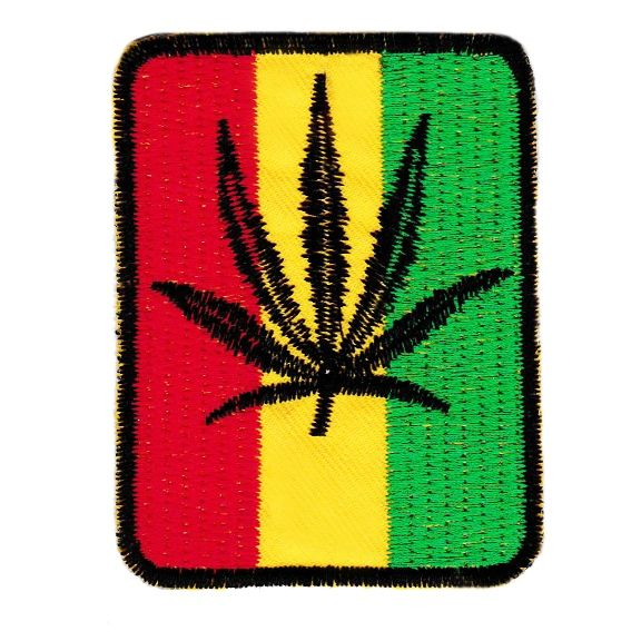 Rasta Weed Vintage Style New Old Stock Patch 7.5cm