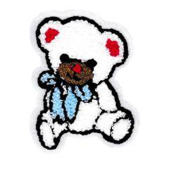 Cute Chenille Teddy Bear Patch 11cm