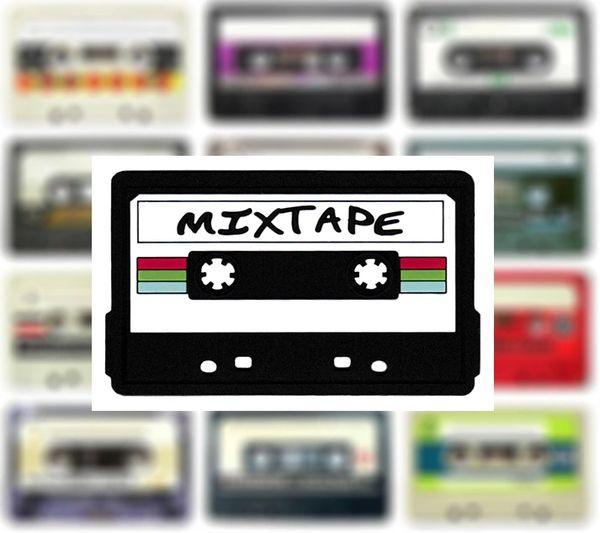 Mixtape Patch DJ PVC Rubber 10cm