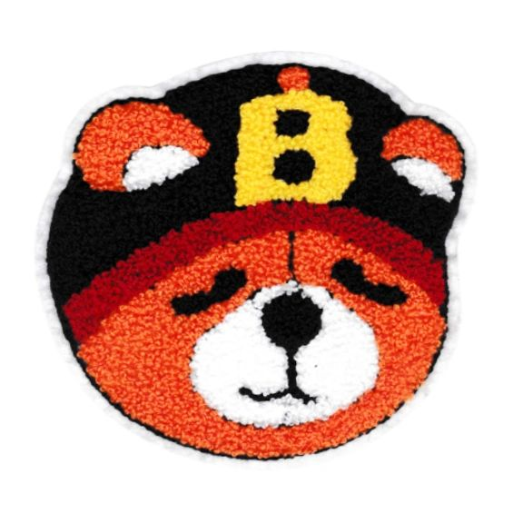 Cute Chenille Teddy Bear Patch XL 13cm