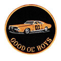 "Dukes of Hazzard General Lee 01 ""Good Ol' Boys"" Patch 9cm"