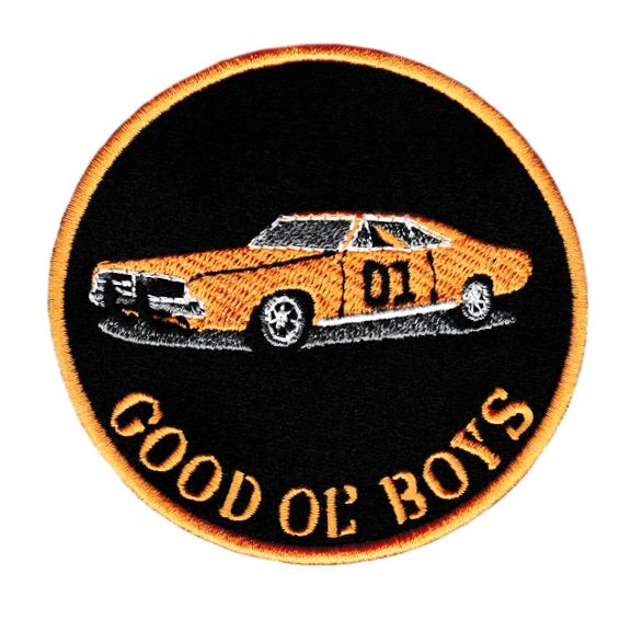 "Dukes of Hazzard General Lee 01 ""Good Ol' Boys"" Patch 9cm"