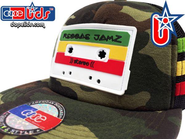 smARTpatches Truckers Reggae Jamz Mixtape Camo Trucker Hat
