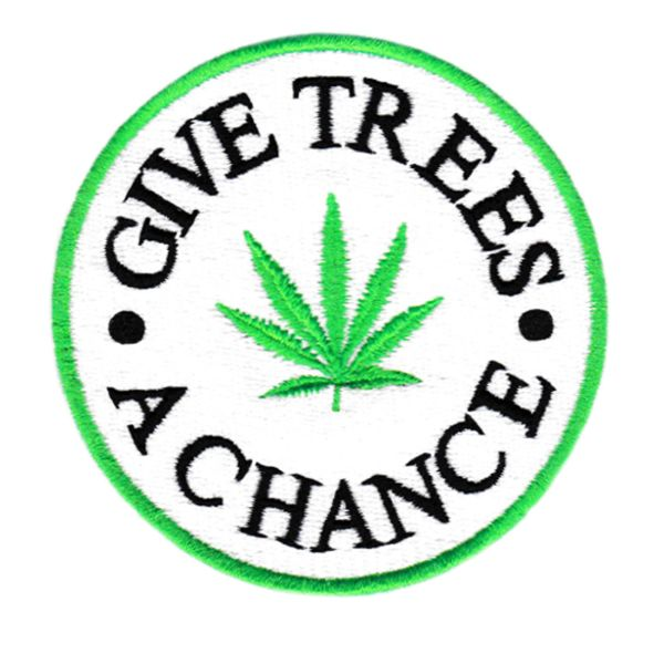 "Cool ""Give Trees A Chance"" Patch 8cm"