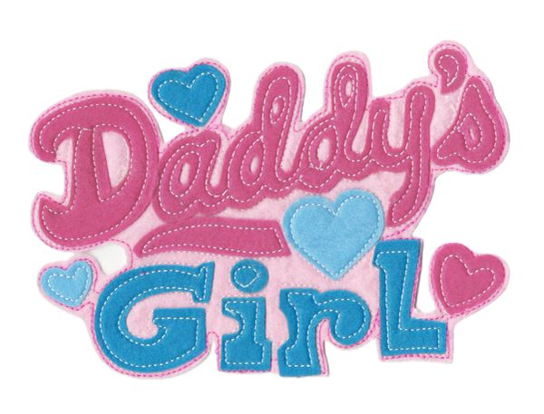 Cute Daddy's Girl Patch Applique XXL Extra Large 22cm