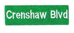 Cool Crenshaw Blvd Patch 10cm