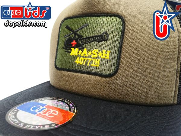 Vintage Style OD Green MASH Trucker Hat