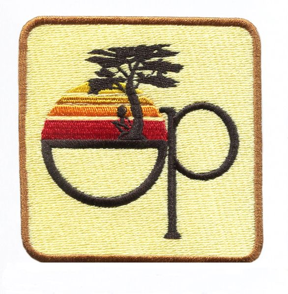 Vintage Style 80's Surfing Surfer OP Patch 8cm Yellow
