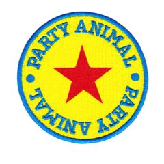 Vintage Style 80's Party Animal Morale Patch 8cm