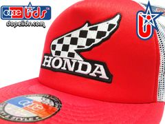 "smartpatches Truckers Vintage Style Honda ""Winner"" Motorcycle Trucker Hat (Solid Black Hat)"