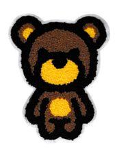 Chenille Teddy Bear Patch XL 17cm