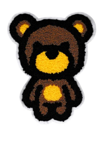 Chenille Teddy Bear Patch XL 17cm