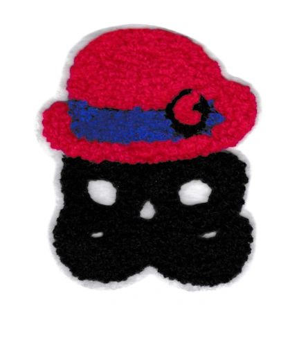 Cute Chenille Mustache Man Patch 9.5cm