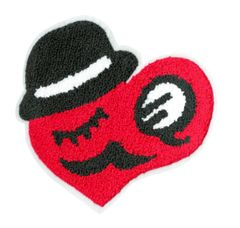 Chenille Heart Smiley Face Patch 17cm