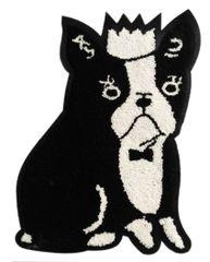 Adorable Boston Terrier Chenille Dog Patch XXL Extra Large (28cm) Applique