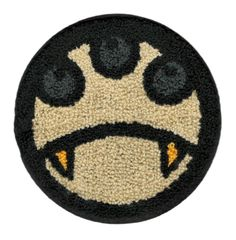 Chenille Smiley Face & Teeth Patch 13cm