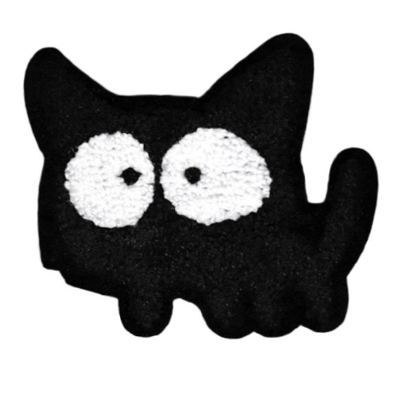 Adorable Chenille Kitty Cat Patch XL Extra Large 11.5cm Applique