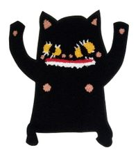 Adorable & Scary Chenille Kitty Cat Patch XXL Extra Large 28cm Applique