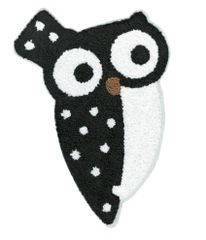 Adorable & Cute Chenille Owl Patch XXL Extra Large 28cm Applique