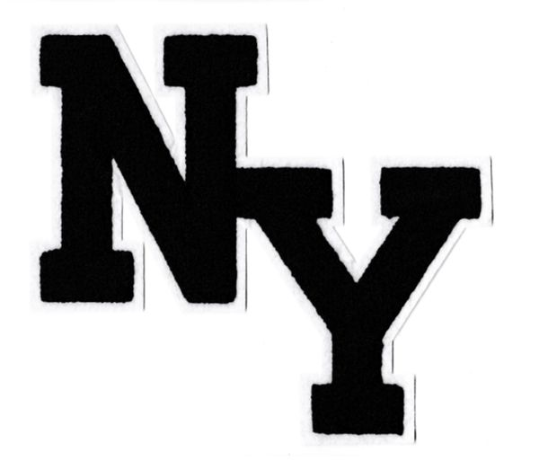Stylish Chenille NY New York Patch 20cm Applique