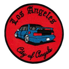 "Vintage Style Los Angeles ""City of Angels"" JDM Street Racer Low Rider Patch 9cm Applique"