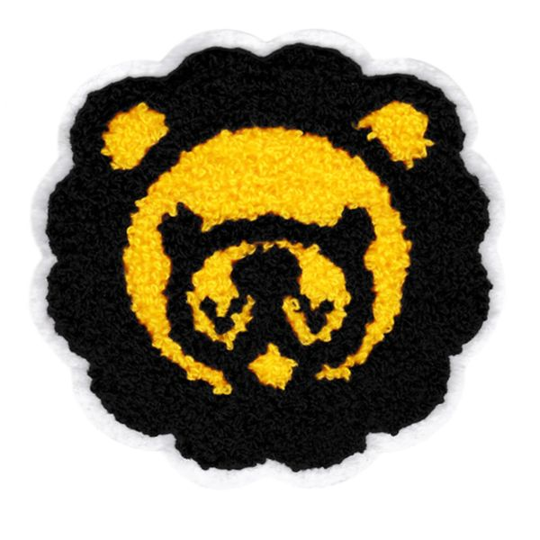 Adorable Chenille Lion Head Patch Large 11.5cm Applique