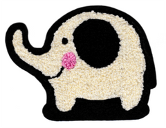 Adorable Chenille Elephant Patch XL Extra Large 13cm Applique