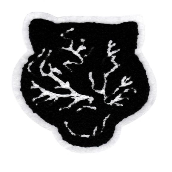 Adorable Chenille Black Panther Patch Large 9.5cm Applique
