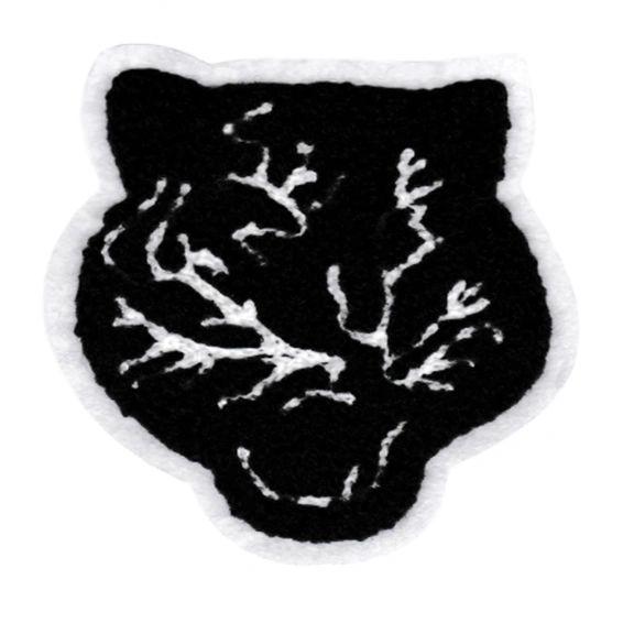 Adorable Chenille Black Panther Patch Large 9.5cm Applique
