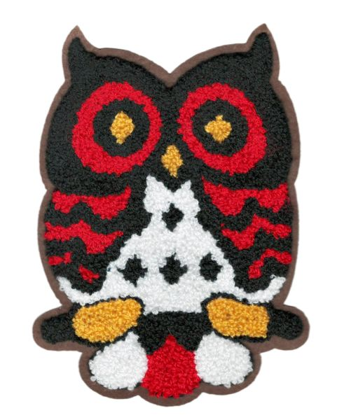 Adorable & Cute Chenille Owl Patch XL Extra Large 18cm Applique