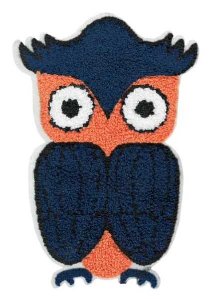 Adorable & Cute Chenille Owl Patch XXL Extra Large 20cm Applique