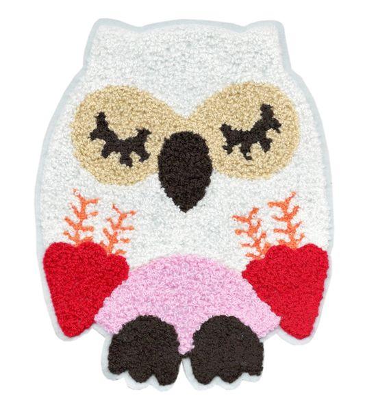 Adorable & Cute Chenille Owl Patch XXL Extra Large 22cm Applique