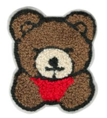 Embroidery Badge Chenille Teddy Bear Patch Bust 10cm