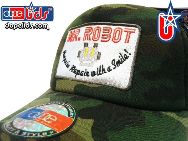smartpatches Truckers Mr. Robot Trucker Hat Curved Bill (Camo)