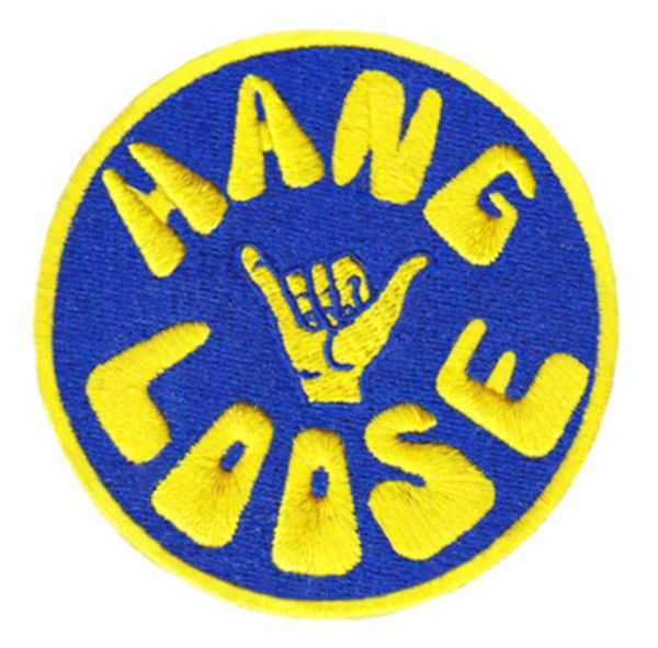 """Vintage Style 70's 80's Hawaii Surf Surfing """"Hang Loose"""" Patch 8cm"""