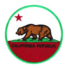 Vintage Style California Republic Patch 8cm Applique